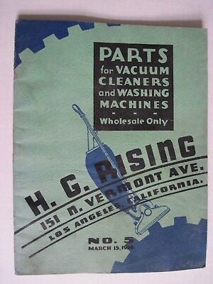Parts catalog for Vacuum Cleaner and Washing Machine parts No. 5 1938