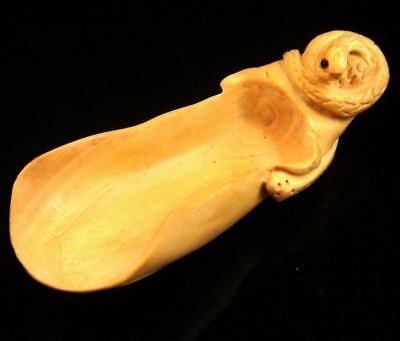 Boxwood Hand Crafted Tea/Coffee Scoop Snake Handle Zodiac Animal #12141717
