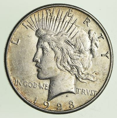 Early - 1923-S - Peace Silver Dollar - 90% US Coin *666