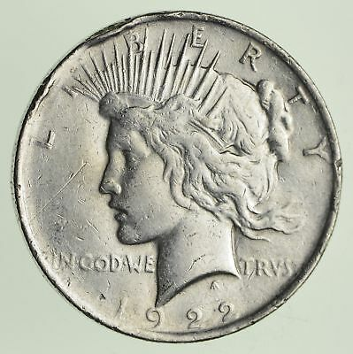 Early - 1922 - Peace Silver Dollar - 90% US Coin *995
