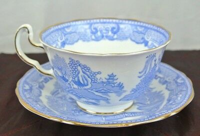 Vintage  Royal Adderley Blue Willow Tea Cup and Saucer