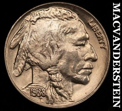 1938-D Buffalo Nickel - Choice Gem  Brilliant Uncirculated+++++!!  #a2895