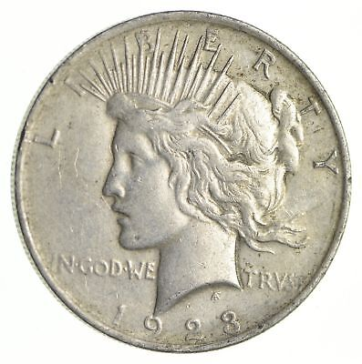 Early - 1923 - Peace Silver Dollar - 90% US Coin *734