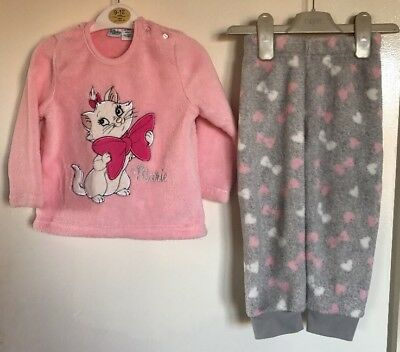 Disney Baby Aristocat Marie Girls Fleece Pyjamas. Age 18-24 Months