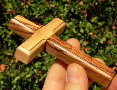 "Olive Wood Christian Wall Cross 4.7"" Hand Made in Holy Land Jerusalem Bethlehem"