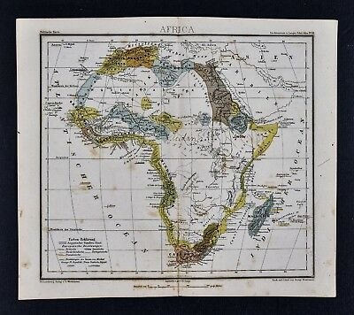 1875 Lange Map - Africa Capeland South Guinea Sudan Egypt Nubia Madagascar