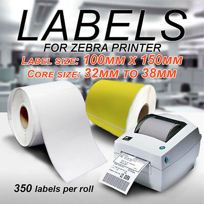 Thermal Direct Labels 100X150mm For Fastway Startrack Zebra SATO White & Yellow