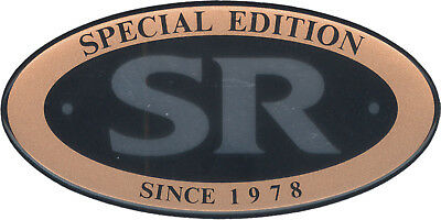 SR500 Aufkleber 'SR Special Edition since 1978' gold/chrom/schwarz Sticker Decal