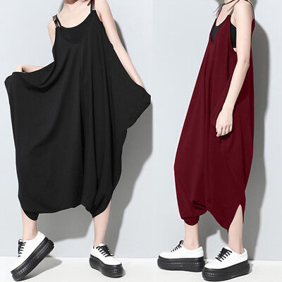 b25d0feacb88 S-3XL ZANZEA Women s Drape Oversize Jumpsuit Romper Casual Plain Playsuit  Plus