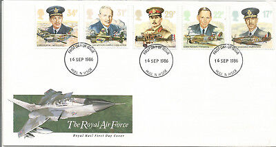 Gb Fdc 1986 The Royal Air Force