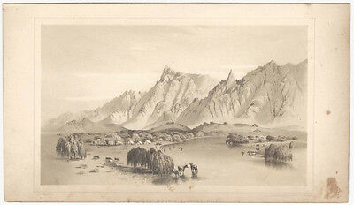 Big Horn Mountain, River Gila - 1854 Lithograph Plate American West Print