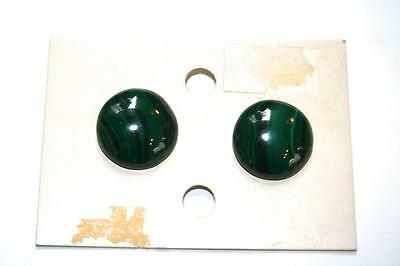 Tres Belles Boucles D'oreilles Malachite  Vintage 1980 Neuf/earrings New