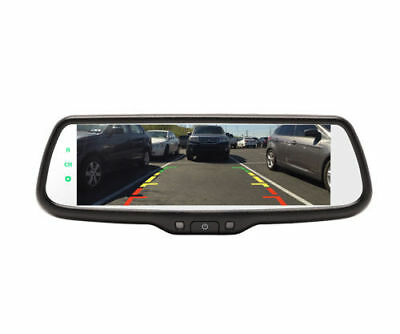 "Crimestopper MIR-007 Rear View Mirror w/ Dual 3.5"" LCD Touchscreen Monitor"