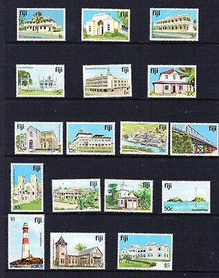Fiji stamps - 1979 Architecture stamps MUH & MVLH
