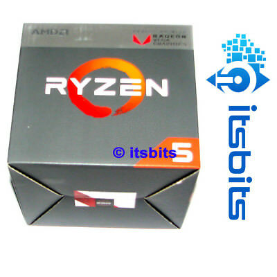 AMD RYZEN 5 2400G AM4 3.9Ghz (MAX BOOST) 4 CORE 8 THREAD RX VEGA 11 GRAPHICS