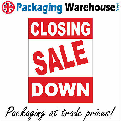 Ge307 Closing Down Sale Sign Everything Must Go Clearance Bargain Shut Shop Yard