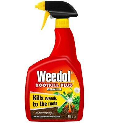1L Weedol Fast Action Garden Weed Root Killer Spray Ready to Use Weedkiller NEW