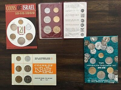 NO RESERVE sets Coins Of Israel 1966, 1969, 1970, Jerusalem specimen Proof Like