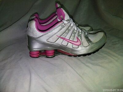 Youth Nike Shox 313927-161 Silver/Pink/White Athletic Shoes 6Y