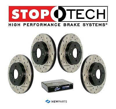 FRONT STOPTECH SportStop Drilled Slotted Brake Rotors STF65119 LEFT /& RIGHT