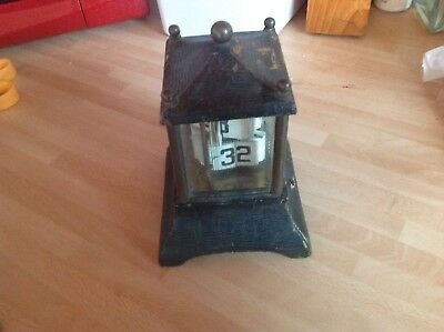 antique plato type ticket clock spares or repair