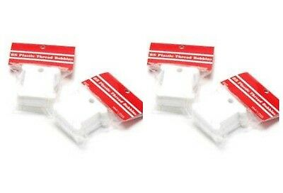 100 Plastic Embroidery Thread Bobbins Floss Cards Tidy Threads 38mm SK27