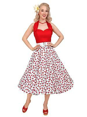 597c461067 1950s style Vivien of Holloway Circle Skirt Cherry Pin-up rockabilly retro