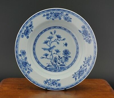 FINE! Antique Chinese Blue and White Magpie Plate Charger YONGZHENG 18th C