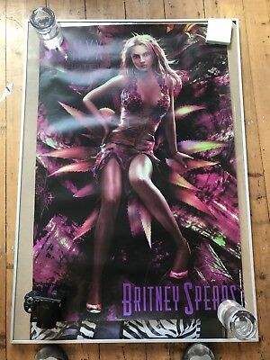 NYX HOTEL TOUR Set of 4 Vintage Britney Spears Posters Set G 2004