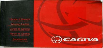 MV AUGUSTA CAGIVA Original Motorcycle Warranty Booklet #8A0090574
