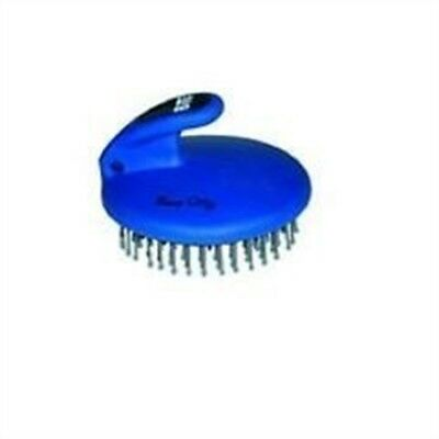 Bitz Palm-held Mane & Tail Brush Blue - Palmheld Horse Grooming Designed Fit