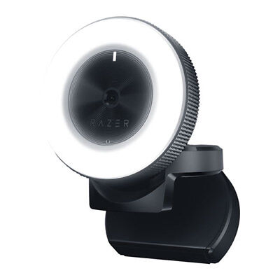 Razer Kiyo Desktop Streaming Webcam/Camera with Multi-Step Ring Light, 1080p @30