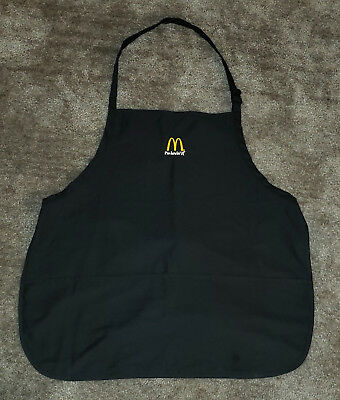 Official McDonald's I'm Lovin' It Employee Black Apron - One Size