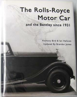 THE ROLLS-ROYCE MOTOR CAR AND THE BENTLEY SINCE 1931 ISBN0713487496 Car Book