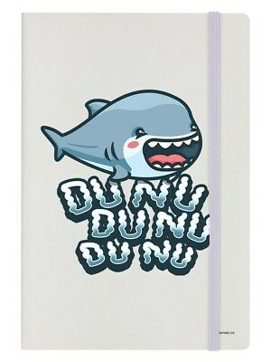 Cute Shark Attack Cream Notebook 14 x 21cm