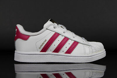 Adidas Originals Junior Superstar Sneaker Weiß und Rosa