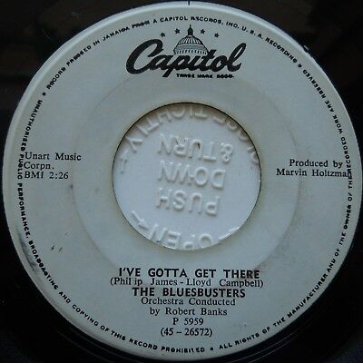 "7"" Nos / The Bluesbusters / I've Gotta Get There / Capitol / Listen"