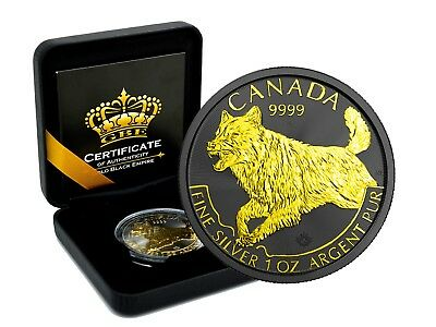 1 OZ Silber Canada Wildlife Wolf 2018 Predator 2018 Gold Black Empire Edition