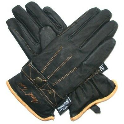 Mark Todd Winter Riding Glove - Black, Medium - Gloves Thinsulate Leather Adult