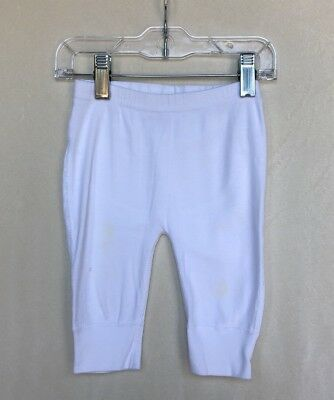 Hanna Andersson White Wiggle Pants Size 60 (6-9 Months)