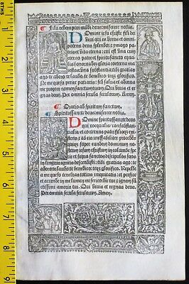 Lge.printed medieval BoH,deco.Border w/detailed scenes,Simon Vostre,c.1512