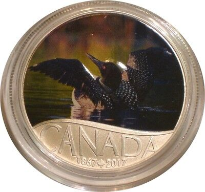 2017 Silver $10 Ten Dollars Canada COMMON LOON superb Gem BU with COA
