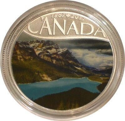 2017 Silver $10 Ten Dollars Canada PEYTO LAKE superb Gem BU with COA