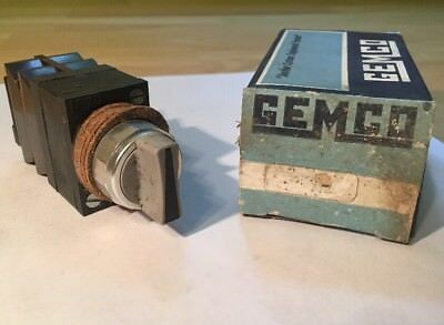 NOS Gemco 404S32121Y Selector Switch AA2 4 New Old Stock In Box