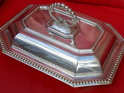 Super Quality Antique Heavy Edwardian Silver Plated Plate Serving Tureen Dish