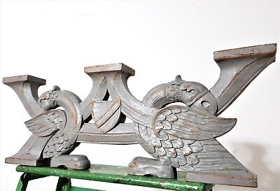 Shabby eagle corbel bracket Antique french wood carving architectural salvage