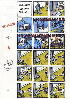 JEFFREY BROWN Cats Are Weird 2 pages ORIGINAL COMIC ART