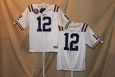 ee7efb62b LSU TIGERS Nike  12 FOOTBALL JERSEY XL NwT w  BCS Patch  65 retail ...