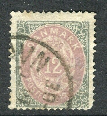 DENMARK; 1875 classic early 'ore' issue fine used 12ore. value,
