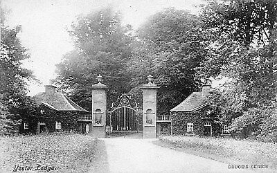 Yester East Lothian. Yester Lodge and Gates,Edwardian Postcard,Unposted SEE SCAN